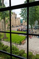 View from the Bloody Tower towards the south face of the Waterloo Barracks, Tower of London, London, England.