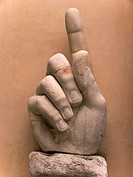 Hand from the Statue of Constantine in courtyard of Capitoline Museum Rome Italy