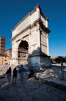 Italy, Lazio, Rome, Arco Di Tito, Arch of Titus