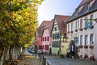 France, Alsace, Bergheim, traditional house