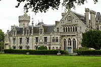 neo-Gothic castle Keriolet, municipality of concarneau, Finistere, Brittany, France