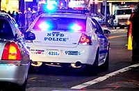 NYPD, New York City Police Department, squad car, 42nd Street, Broadway, Times Square, Manhattan, New York City, USA