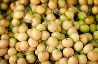 Longan fruit on the counter of the Asian market