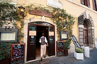 Italy, Lazio, Rome, Trastevere District, Via della Lungaretta Street, Aristocampo Tavern, Restaurant