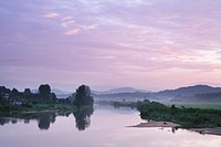 River at sunrise in Anseong_si, South Korea
