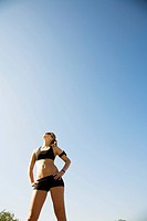 athletic young woman in park