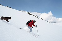 Skiclimbing with