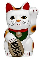 Japanese porcelain lucky cat Maneki Neko