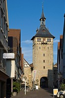 The Altstadt Gate to Marbach am Neckar, Baden_Wurttemberg, Germany, Europe