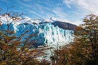 Perito moreno glacier in autumn, patagonia argentina