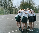 Netball Team Huddling