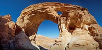 Arch in the rock formation, timna park arabah israel
