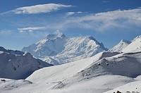 Thorong La Thorung La, a pass at 5416m, Annapurna Conservation Area, Gandaki, Western Region Pashchimanchal, Nepal, Himalayas, Asia