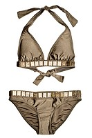 Ladies bronze bikini and set