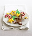 Christmas cookies on plate