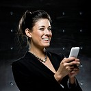 businesswoman using a cell phone
