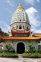 Ban Po Tha Pagoda 10000 Buddhas, Kek Lok Si Temple complex, Penang, Malaysia.