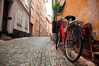 A bike in the old town of stockholm