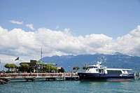 ferry, lake, lausanne, switzerland