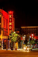 The KiMo Theater, a landmark building National Register of Historic Places built in Art Deco-Pueblo Revival style, on Central Avenue NW in Downtown Al...