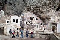 monastery of the virgin mary, sumela, trabzon, black sea, turkey, asia