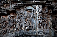 The exteriors of Halebidu Temple,Karnataka