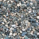 Grey pebbles on the beach as background