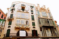 Majorca Placa Plaza Marques de Palmer modernist building