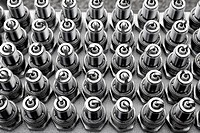 car spark plugs rows pattern mechanical engine pieces