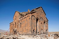 cathedral subsequently changed in fethiye mosque, ani ruins, kars area, north-eastern anatolia, turkey, asia