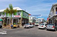 Caribbean, Saint Kitts and Nevis, Basseterre, Street scene