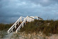 Beach Steps are steps heading down to Crescent Beach, FL, USA