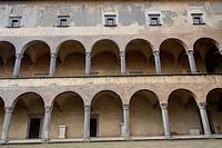 Interior courtyard Castle Odescalchi Bracciano Italy