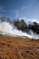 Mulch Fire at Condo Development, Sevier County, TN
