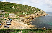 Penberth Cove is a small village on the Penwith peninsula in Cornwall, England, United Kingdom