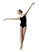 Teenage ballerina in leotard