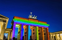 Brandenburg Gate lit up at 'Festival Of Lights'