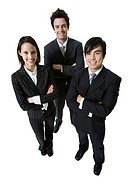 Three business people posing