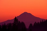 Mount Hood at sunrise Cascade Mount