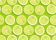 seamless background of fresh lemon slices