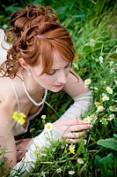 Bride on grass