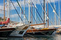 Traditional Gulets in Bodrum Marina  Mugla province, Turkey