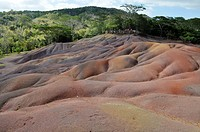 Mauritius, the Seven Coloured Earths of Chamarel