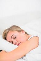 Cute woman sleeping