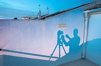 The shadow of the photographer, Valencia, Spain