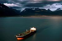 Ship in Alyeska Terminal in Alaska