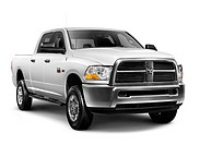 White 2010 Dodge RAM 2500 heavy duty pickup truck isolated on white background
