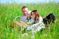 happy family picnic