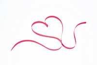 Decorative ribbon shaped into a heart