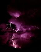 Lightning Illuminates a Storm
